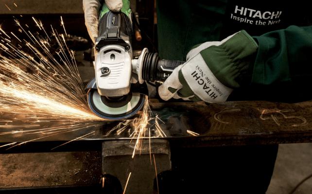 grinding a metal